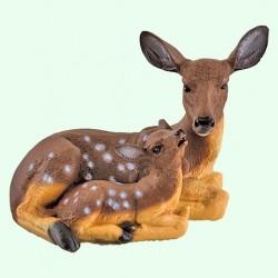 Скульптуры оленей, косуль, лис (13)