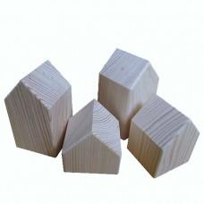 Деревянные заготовки домики 4 шт.