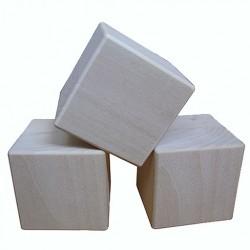 Деревянные кубики из липы
