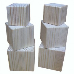 Деревянные кубики из сосны