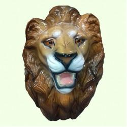 Набивная скульптура Голова льва