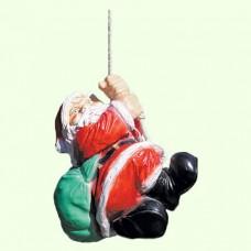 Новогодняя скульптура Дед Мороз на верёвке
