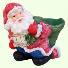 Новогодняя скульптура Дед Мороз подбутылочник