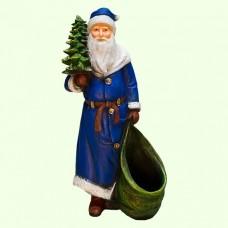 Новогодняя скульптура Дед Мороз с елкой