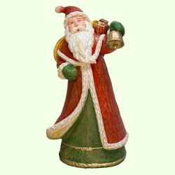 Новогодняя скульптура Дед Мороз с корзиной