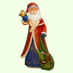Новогодняя скульптура Дед Мороз с мешком