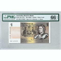 Банкнота Австралии 1 доллар 1983 Gem UNC Pick# 42d