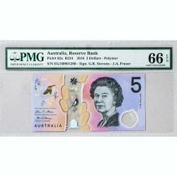 Банкнота Австралии 5 долларов 2016 Gem UNC Pick#62а
