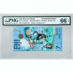 Банкнота Фиджи 7 долларов 2016 Gem UNC