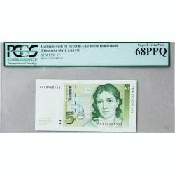 Банкнота Германии 5 дойч марок 1991 Superb Gem UNC