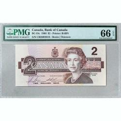 Банкнота Канады 2 доллара 1986 Gem UNC BC-55с
