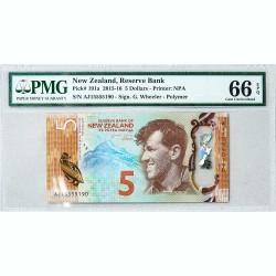Банкнота Новой Зеландии 5 долларов 2015-16 Gem UNC Pick#191A
