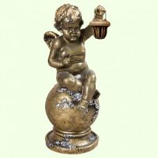 Садовая скульптура Ангел с фонарем