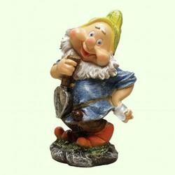 Садовая скульптура Гном с лопатой (М)