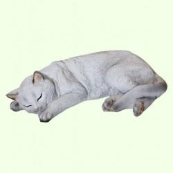 Садовая скульптура Кошка спящая