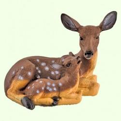 Садовая скульптура Косуля с малышом