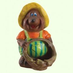 Садовая скульптура Крот с корзиной