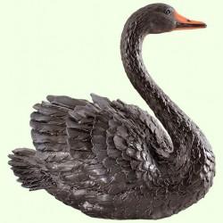 Садовая скульптура Лебедь чёрный (М)