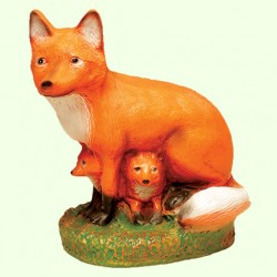 Садовая скульптура Лиса с лисятами