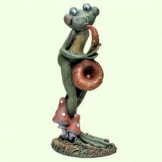Садовая скульптура Лягушка саксофонист