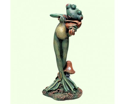 Садовая скульптура Лягушка скрипач