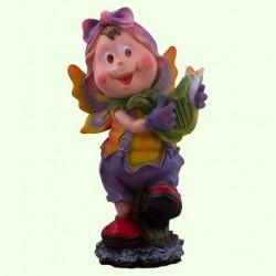 Садовая скульптура Мотылек с арфой
