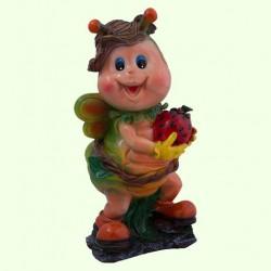 Садовая скульптура Мотылек с клубникой