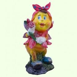 Садовая скульптура Мотылек с розой