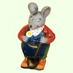 Садовая скульптура Мышь с лопатой