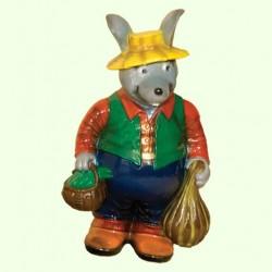 Садовая скульптура Мышь с тыквой