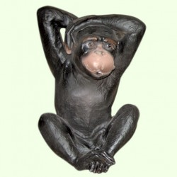 Садовая скульптура Обезьяна глухая
