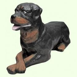 Садовая скульптура Ротвейлер лежачий