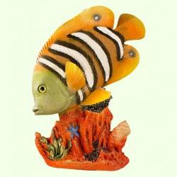 Садовая скульптура Рыба бабочка на коралле