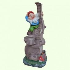 Садовая скульптура Слон с гномом