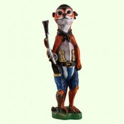 Садовая скульптура Суслик с ружьем