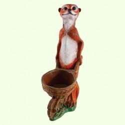 Садовая скульптура Суслик с тачкой