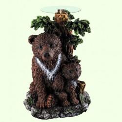 Журнальный столик Медведь с медвежонком (Б)