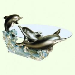 Журнальный столик Три дельфина